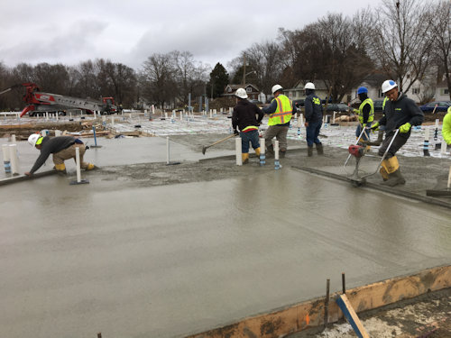 commercial concrete floors and foundations by All Star Concrete
