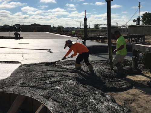 commercial concrete paving and sidewalks by All Star Concrete